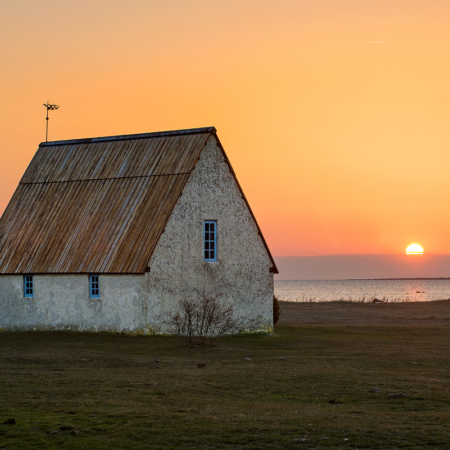 Gotland Kovik Solnedgång Vår 1