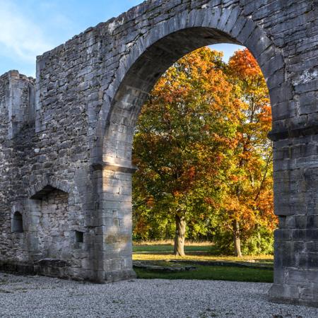 Gotland Roma Klosterruin Höst 2