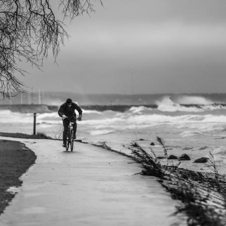Gotland Storm Cyklist Vinter