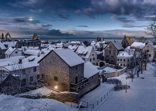 Gotland Visby Johan Målare Vinter 1
