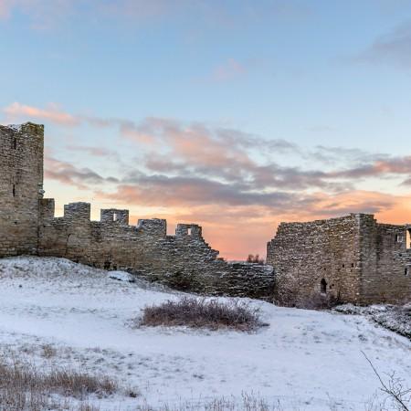 Gotland Visby Ringmur Vinter 3